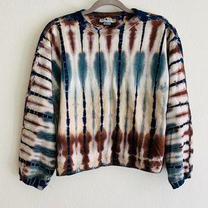 The Limited Tie Dye Blue Brown Cream Sweatshirt
